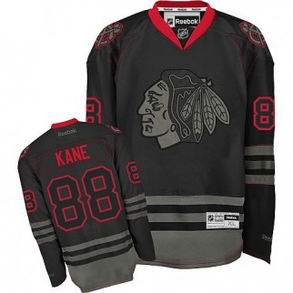 Reebok Chicago Blackhawks 88 Patrick Kane Premier Black Ice Jersey