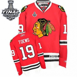Reebok Chicago Blackhawks 19 Youth Jonathan Toews Authentic Red Home 2015 Stanley Cup Jersey
