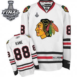 Reebok Chicago Blackhawks 88 Youth Patrick Kane Premier White Away 2015 Stanley Cup Jersey
