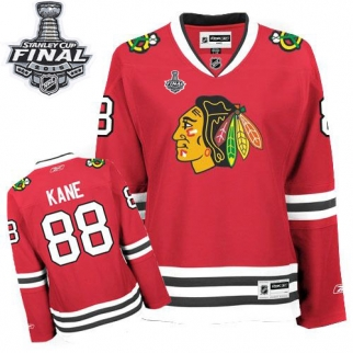 Reebok Chicago Blackhawks 88 Women's Patrick Kane Authentic Red Home 2015 Stanley Cup Jersey