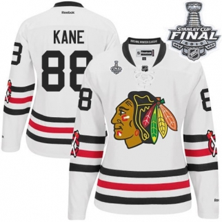 Reebok Chicago Blackhawks 88 Women's Patrick Kane Authentic White 2015 Winter Classic 2015 Stanley Cup Jersey